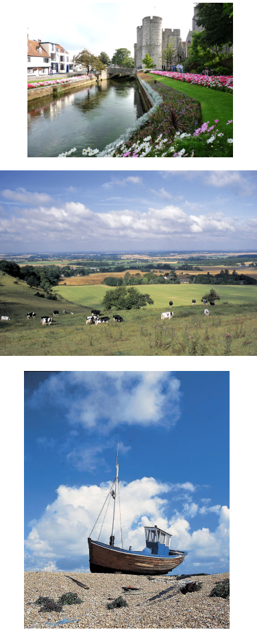 Three images of Kent